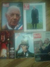GENERAL DE GAULLE <LOT DE 5 REVUES PARIS MATCH JOURS DE FRANCE 1970/58