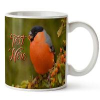 Personalised Mug BULLFINCH Wildlife Twitcher Ceramic Cup Birthday Gift KS43