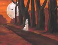 8x10 PRINT OF PAINTING RYTA HALLOWEEN VINTAGE STYLE ART GHOST VAMPIRE SPIRIT