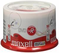 50 Maxell DVD-R PRINTABLE Stampabili Print 120 minuti 4.7GB inkjet -R 275701