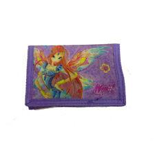 WINX cartera con rasgar violeta con diseño 3D efecto purpurina 14x9,5cm