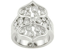 Jose Hess For Bella Luce .89ctw Rhodium Plated Sterling Silver Ring