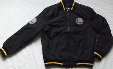 New Men's NBA Golden State Warriors Track Jacket Black/Gold MSRP $130