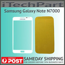 White LCD Screen Lens Glass Replacement For Samsung Galaxy Note N7000 i9220