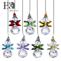 Suncatcher Crystal Snowman Pendant Rainbow Marker Prism Hang for Window Pack 7