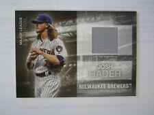 2020 Topps # MLM - JH Josh Hader Material Card Milwaukee Brewers ( B67 )