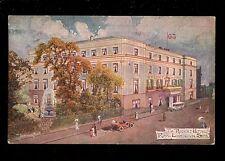 Warwicks Warwickshire LEAMINGTON Regent Hotel 1923 artist Jotter PPC