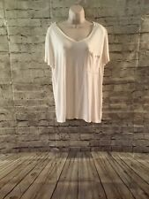 Mossimo Womens Tee Size XXL White V-Neck Short Sleeve 2X