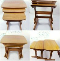Set of 3 Mid Century Vintage Nest of Coffee Tables Danish(Rare)