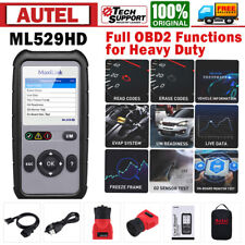 Autel Scanner Ml529 Hd Commercial Heavy Duty Truck Car Obd2 Can Dianostic Tools