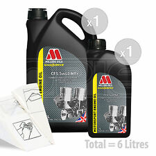 Car Engine Oil Service Kit / Pack 6 LITRES Millers NANODRIVE CFS 5w-40 NT 6L