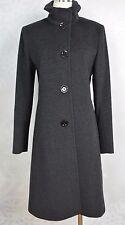 Cinzia Rocca Due Charcoal wool blend ruffle collar button front coat NWOT size 6