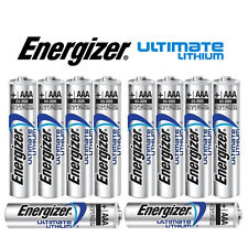 SHRINK PACK OF 10X ENERGIZER AAA 635883 ULTIMATE LITHIUM BATTERIES LR03 1.5v