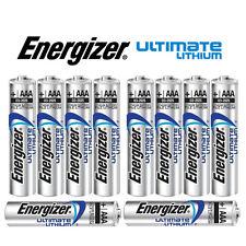 SHRINK PACK OF 10X ENERGIZER AAA 635883 ULTIMATE LITHIUM BATTERIES LR03 1.5v