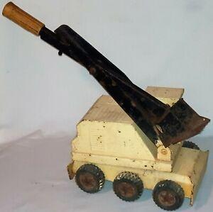 Vintage Tonka Pressed Steel 6 Wheel Steam Shovel Excavator