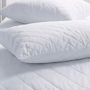 Quilted Microfiber Super Filled Long Lasting Firm and Support Pillows Free P&P
