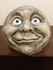 LARGE GARDEN FROWNING FACE STATUE