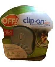 NEW Pack of OFF! Clip-On Fan Circulated Repellent 12 Hour Mosquito Protection