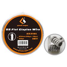 Geekvape (flapton) Wire-SS316L - 0.4 Mm x 1 mm + 0.2mm- Carrete 3 metros (10')