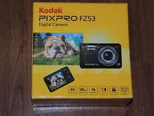 New in Open Box - Kodak PIXPRO FZ53 16 MP Digital Camera - BLUE - 819900012583