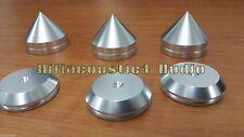 3x 33mm Silver Speaker Spike Feet Cone Pad Turntable Amp HiFi CD DAC stand