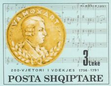 280728 / Albanien Block ** MNH Mozart Musik
