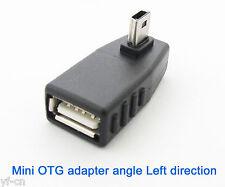 Ángulo Izquierda 100x 90D Mini 5pin USB Macho a Hembra Conector Adaptador Otg De Usb 2.O