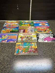 Vintage Lot Of (10 ) First Edition 1980's Garfield Comic Books By Jim Davis.