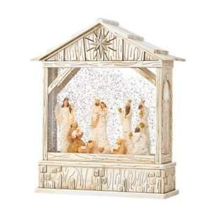 Raz Import Christmas Musical Nativity Scene Lighted Water Creche NEW 4100758