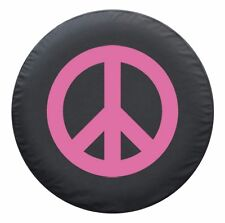 """29"""" Peace Sign Tire Cover - Pink - Jeep Wrangler TJ - USA"""