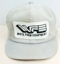 K BRAND PRODUCTS WHITE FARM EQUIPMENT BIG PATCH TRUCKER  SNAPBACK HAT CORDUROY