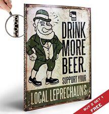 Boire davantage de bière Rétro Vintage Signe Poster 30x21cm Pub Bar Decor Support local