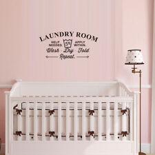 Laundry Room Rules Wash Dry Fold Vinyl Wall Sticker Decor Decal Bathroom S9 S9j2