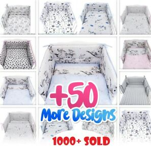 3 or 5 PC NURSER BABY SET -COT - COT BED-inc BUMPER+COVERS+MORE- BABY GIRL -BOY