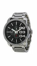 Diesel DZ4209 Double Down Silver Steel Bracelet with 51.6mm Analog Dial Watch NI