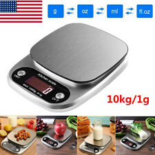 22lb 10Kg/1g Accurate Digital Kitchen Food Scale Gram Electronic Stainless Steel