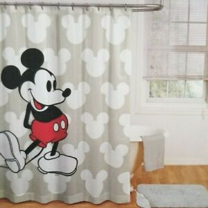 Disney Mickey Mouse Fabric Shower Curtain NIP