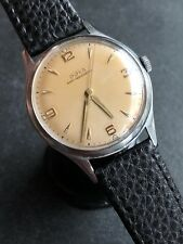 1961 Doxa Salmon Dial Mens Dress Watch Swiss Made 34,9mm