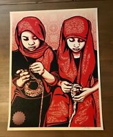 Shepard Fairey Obey CLOSE KNIT Signed Numbered Screen Print RARE