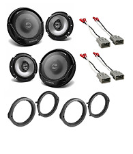 6.5 inch Front & Rear Door Car Speakers W/Install Kits for 2006-2011 Honda
