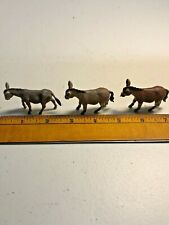 Vintage Britains Lot of Three Plastic Donkeys