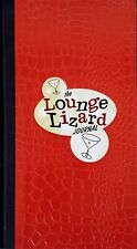 LOUNGE LIZARD JOURNAL & ADDRESS BOOK ~ SIMULATED LIZARD SKIN COVER - 1997