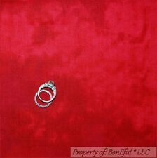 BonEful Fabric FQ Cotton Quilt RED Rooster Bright Tone Shade Fire Xmas S Blender