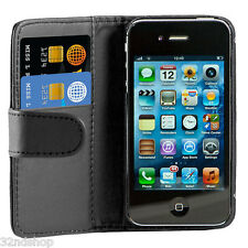FLIP LEATHER CASE COVER FOR APPLE IPHONE 4 4S 5 FREE SCREEN PROTECTOR STYLUS