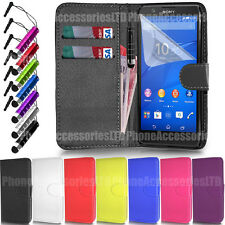 Flip Wallet Leather Case Cover For Sony Xperia SP Z1 Z3 Z3 Z4 M2 M5 E3 E4 E