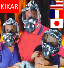 60 mins Emergency Escape Smoke Gas Hood Protective Firemask Big Visor Hard Case