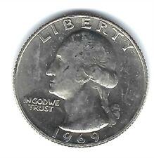 1969 Philadelphia Brilliant Uncirculated Washington Quarter Coin!