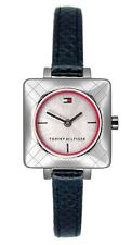 newstuffdaily: NIB TOMMY HILFIGER Square Case Black Leather Ladies Watch 1700383