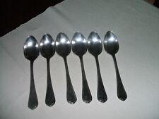 Six grandes cuillères de table Christofle métal argenté modèle Spatours 20,5 cm.
