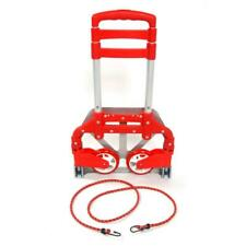 New Aluminium Luggage Cart Folding Dolly Push Truck Hand Collapsible Trolley Red